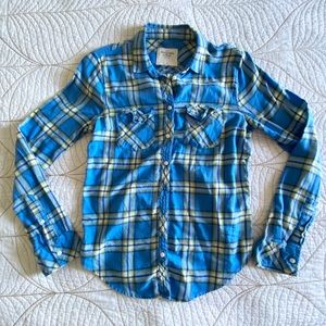 3 for $30 Abercrombie & Fitch Blue Plaid Shirt